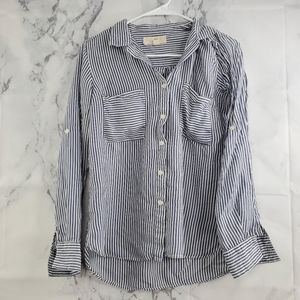 Thread & Supply Pinstripe Button Front Shirt